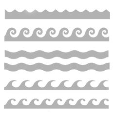 """Waves of the Ocean 6"""" x 6"""" Art Stencil.Art Stencils for creative work and play!The art stencils are made in the USA of 6"""" x 6"""" durable reusable mylar.Stencil, spritz, ink, doodle, scribble, sponge, stipple, and more!Let yourself fly with these easy to use mixed media art stencils!"""