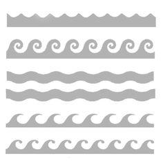 "Stencil - Waves of the Ocean - 6"" x 6"""