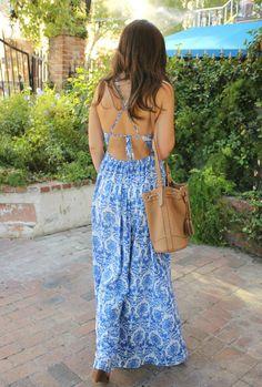 Dress: ℅ Sugar Love Boutique, Bag: Old Navy, Wedges: Shoedazzle, Bracelets: made by me, Necklaces: Nordstrom Rack (similar here), Lipstick: Persian Melon by Revlon