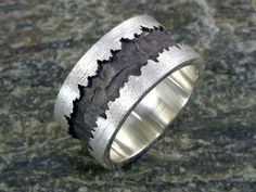 """Anello """" Fratture """" in Argento massiccio 925 Rings For Men, Sterling Silver, How To Make, Jewelry, Full Figured, Jewellery Making, Men Rings, Jewlery, Jewelery"""