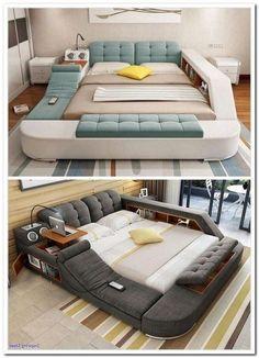85 Super Cozy Bedroom Ideas to Inspire You - Schlafzimmer ideen - Decor New Bedroom Design, Home Room Design, Office Interior Design, Interior Modern, Room Interior, Bedroom Furniture, Home Furniture, Furniture Design, Mirrored Furniture