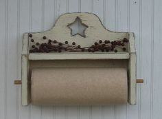 "Country Primitive Kitchen & Bathroom Decor - Paper Towel Holders, Napkin Holders, Toilet Paper Holders, Magazine Racks"">"