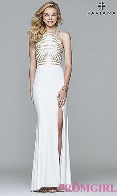 Faviana Open Back Prom Dress  at PromGirl.com