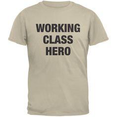 Working Class Hero Inspired By John Lennon Sand Adult T-Shirt