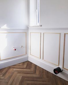 Panelling: 5 Step Guide – Stripes and Sage Dining Room Paneling, Stair Paneling, White Wall Paneling, Wooden Panelling, Bathroom Paneling, Blue Master Bedroom, Bedroom With Ensuite, Bathroom Design Small, Bathroom Interior Design