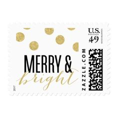 Dot Gold Festive Holiday Stamp