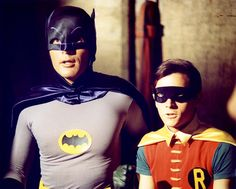The caped crusaders finally hit British screens in the shape of Adam West as Batman and Burt Ward as Robin, the Boy Wonder. Description from sixtiescity.net. I searched for this on bing.com/images