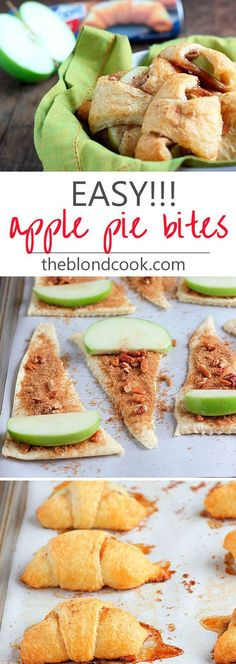 Bites EASY Apple Pie Bites made with crescent rolls. these taste better than apple pie!EASY Apple Pie Bites made with crescent rolls. these taste better than apple pie! Fall Recipes, Sweet Recipes, Top Recipes, Recipes For Apples, Food Recipes For Kids, Apple Recipes Easy Quick, Easter Recipes, Cooking With Apples, Easy Yummy Recipes