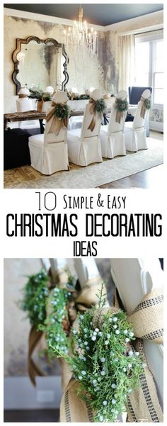 Looking for decorating ideas for Christmas? Here's 10 Simple holiday decorating ideas for your home! thistlewoodfarms.com