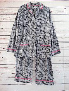 0575dd35e1 DKNY Flannel 2 Pc Long Sleeve Pant Pajama Set Size XL  DKNY  PajamaSets