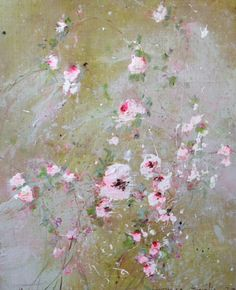 by Laurence Amelie Art Floral, Abstract Images, Abstract Art, Laurence Amelie, Romantic Flowers, Abstract Painters, Abstract Flowers, Hanging Wall Art, Beautiful Paintings