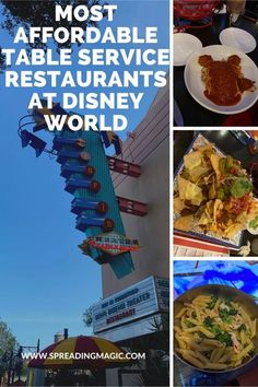 Food is often the biggest expense of a Disney World vacation so I am sharing the most affordable table service restaurants at Disney World #Disney #DisneyWorld #DisneyDining #DisneyFood #DisneyRestaurants #DisneyOnABudget #DisneyVacation Disney World Deals, Best Disney World Restaurants, Disney World Food, Walt Disney World Vacations, Disney Travel, Disney Money, Disney On A Budget, Be Our Guest Disney, Disney World Characters