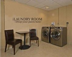 NEW Laundry Room Art Mural Removable Vinyl Quote Decal Home Decor Wall Stickers #NEW #WallStickers