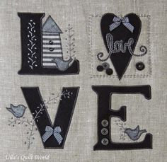 Ulla's Quilt World: Love quilt + pattern, pillow