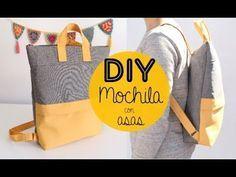 Creating DIY Fashion Trends – Designer Fashion Tips Purse Patterns, Sewing Patterns, Mochila Tutorial, Mochila Jeans, Diy Backpack, Backpack Pattern, Diy Purse, Brown Bags, Handmade Bags