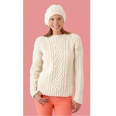 Ravelry: Inishturk Sweater & Tam (Sweater) by Lion Brand Yarn