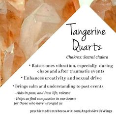 crystal meanings Possible side effects of using crystals Tangerine Quartz crystal meaning Crystal Magic, Crystal Healing Stones, Crystal Grid, Stones And Crystals, Quartz Crystal, Orange Crystals, Crystal Palace, Minerals And Gemstones, Crystals Minerals