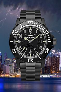 Glycine Combat Sub 42 - Swiss ETA 2824 caliber, water resistant to 20 atm Glycine Combat, Automatic Watches For Men, Cool Watches, Diving, Fit, Water, Men's Watches, Wristwatches, Gripe Water