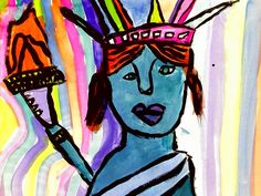 Wash the Dust: Painting the Statue of Liberty Peter Max Style