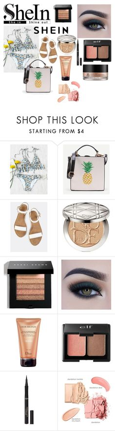 """""""Shein Bikini"""" by giulia-ostara-re ❤ liked on Polyvore featuring Christian Dior, Bobbi Brown Cosmetics, Too Faced Cosmetics, Charlotte Russe, L'Oréal Paris and Arbonne"""