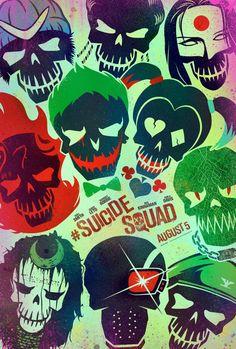 El Escuadrón Suicida al completo en uno de sus nuevos posters