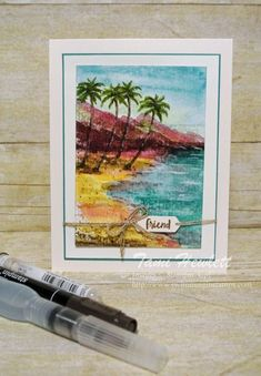 """Painting"" with Stamps 