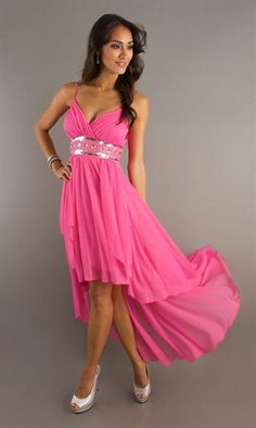 High Low Dress would look gorgeous in a...pink (of course), maybe a Blue & silver
