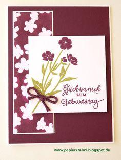 Papierkram: Blumen in Brombeermousse