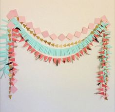 I like this This geometric paper garland backdrop is ideal on your subsequent occasion! Will probably be...