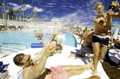 SINTILLATE's Champagne Spray Parties at Ocean Club are World famous!