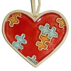 srdce puzzle-keramika Christmas Ornaments, Holiday Decor, Home Decor, Xmas Ornaments, Homemade Home Decor, Christmas Jewelry, Christmas Ornament, Interior Design, Christmas Baubles