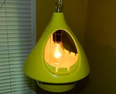Mid Century Swag Lamp Ashtray Yellow Ceramic. $115.00, Via Etsy.