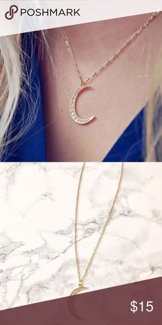 """🆕 🌙 Crescent Moon Pendant Necklace in gold (Not UO - listed for exposure) Chain adjustable from 18 to 20 inches long. Moon pendant approx. 1.25"""". Brand new. Only 2 left available! Bundle discount 😊  ❣️Price firm unless bundled ❣️No trades ❣️Same or next day shipping ❣️Please ask any questions before purchasing! Urban Outfitters Jewelry Necklaces"""