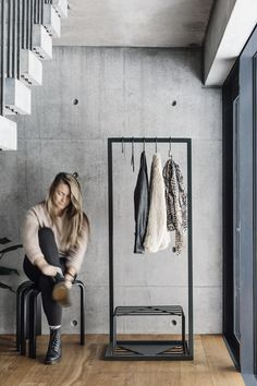 BEdesign - Lume small coat stand, shoe stand and hangers