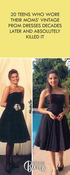 20 Teens Who Wore Their Moms' Vintage Prom Dresses Decades Later And Absolutely Killed It