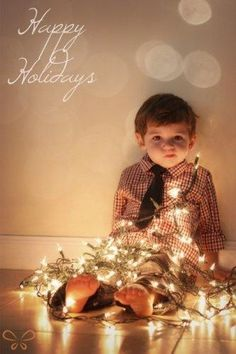 Would be kind of cute to do this, since the picture you took of him like this (when he was 6 mos old) was the front of our Christmas card last year.
