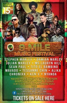 9 MILE MUSIC FESTIVAL   Condom-USA  Get your tickets at:  CONDOM-USA  3066 GRAND AVE  COCONUT GROVE  MIAMI FL  33133     TICKET PRICE: $48.00