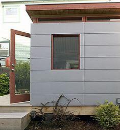 69 Ideas For Exterior Siding Ideas Modern Garage Modern Shed, Modern Garage, Modern Exterior, Siding Options, French Doors Patio, House Siding, Craftsman Bungalows, Exterior Paint Colors, Exterior Siding