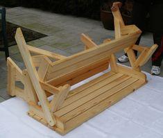 BATIKO ist die Gartentisch-Gartenbank-Kombination aus Naturholz geölt - Gartenmöbel mit Pfiff Folding Picnic Table Bench, Diy Picnic Table, Picnic Table Plans, Wooden Bench Plans, Outdoor Chairs, Outdoor Decor, Woodworking Projects Diy, Planer, Projects To Try