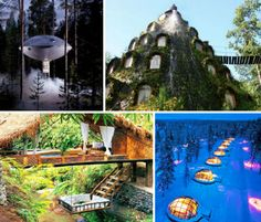 These 14 hotels aren't just self-contained, pre-fabricated, eco-friendly wonders, they're also standout designs of the jaw-dropping variety. In fact, they're so beautiful and strange, you'll hardly believe that they're real.