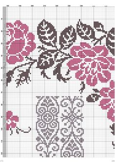 This Pin was discovered by Eli Cross Stitch Borders, Cross Stitch Rose, Cross Stitch Flowers, Counted Cross Stitch Patterns, Cross Stitching, Cross Stitch Embroidery, Embroidery Patterns, Beaded Embroidery, Seed Bead Flowers
