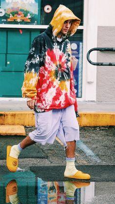 Nba Fashion, Tie Dye Fashion, Mens Fashion, Fashion Outfits, Justin Bieber Outfits, Justin Bieber Style, Thrasher, Justin Hailey, Stylish Hoodies