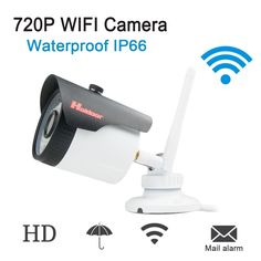 44.65$  Watch here - http://alil2d.shopchina.info/go.php?t=32800798719 - Wifi IP Camera Wireless Outdoor Waterproof Bullet Camera IP Wi-Fi 802.11b/g/n ONVIF P2P HD 720P 1MP IR-CUT Night Vision 44.65$ #buyonlinewebsite