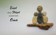 Weiteres - Bild aus Kieselsteinen *Engel/Oma* - ein Designerstück von TAMIKRA-Art bei DaWanda