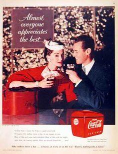 Coca-Cola 1955 Shopping Almost Everyone - Mad Men Art: The Vintage Advertisement Art Collection Coca Cola Poster, Coca Cola Ad, Always Coca Cola, Coke Ad, Vintage Coke, Vintage Style, Print Magazine, Print Ads, Vintage Posters