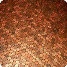 Home Decorating Ideas DIY Tiling a Floor With Pennies - InfoBarrel