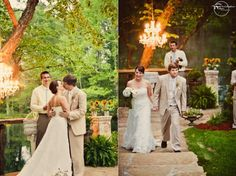 "love this setting and the ""first kiss"" captured by Christopher Nolan Photography in Little Rock"
