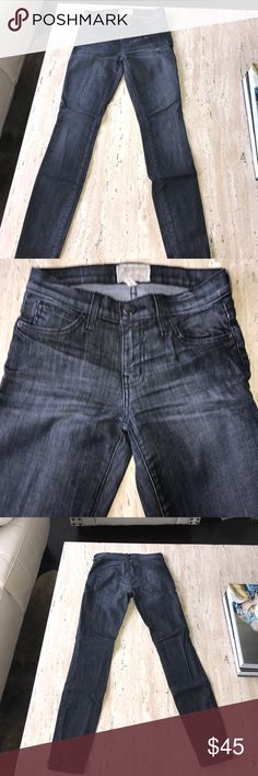 "Current/Elliott Skinny Cropped Jeans Like New 24 Perfect condition. Only worn twice. Dark gray color. ""The Stiletto"" cut, cropped skinny jeans to show off your favorite shoes. Size 24 Current/Elliott Jeans Ankle & Cropped"