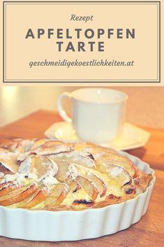 Apfeltopfentarte, Apfel, Topfen. Schnelles Rezept #apfeltarte #apfel #topfen #kuchen