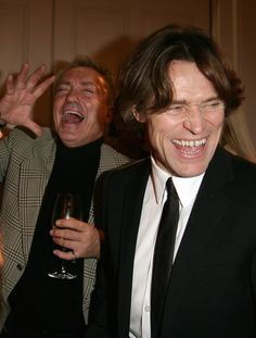 Udo Kier and Wilem Dafoe.  Don't know whether to be afraid or mesmerized, lol